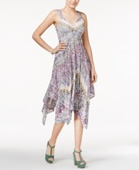 American Rag Printed Handkerchief Hem Dress Only At Macy's Tile Print