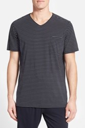 Daniel Buchler Pima Cotton And Modal V Neck T Shirt Blue