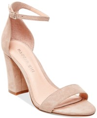 Madden Girl Madden Girl Bella Two Piece Block Heel Sandals Women's Shoes Blush