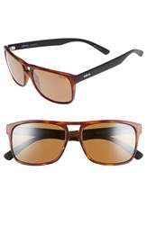 Men's Revo 'Holsby' 58Mm Polarized Sunglasses Matte Dark Tortoise Terra