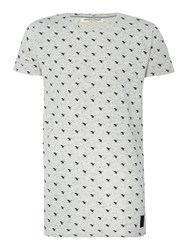 Anerkjendt Regular Fit All Over Hawk Print T Shirt Grey