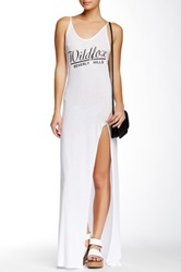 Wildfox Couture Beverly Chasse Jet Set Maxi Dress White