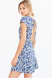 Kimchi And Blue Flirty Open Back Fit Flare Dress Blue Multi