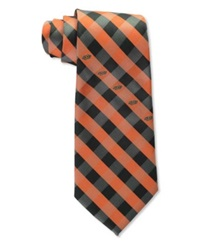 Eagles Wings Oklahoma State Cowboys Checked Tie