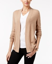Charter Club Cashmere Cardigan Only At Macy's Heather Camel