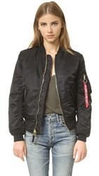 One By Alpha Industries Bomber Jacket Black