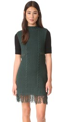 Moon River Turtleneck Sweater Dress Teal