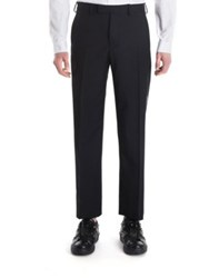 Valentino Solid Wool Trousers Black