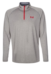 Under Armour Tech Long Sleeved Top Grey Red Dark Gray