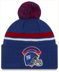 New Era York Giants Diamond Stacker Knit Hat Blue Red