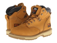 Timberland 6 Pit Boss Steel Toe Wheat Nubuck Leather Men's Work Lace Up Boots Tan