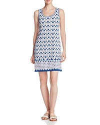Max Studio Printed Jersey Sleeveless Dress Compare At 98 Ocean Coral