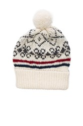 Thom Browne Norwegian Fair Isle Beanie In Gray