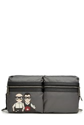 Dolce And Gabbana Belted Fabric Bag Grey