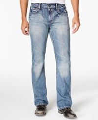 Inc International Concepts Men's Lennix Boot Cut Light Blue Wash Jeans Only At Macy's Light Wash