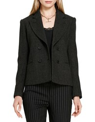Polo Ralph Lauren Wool Herringbone Jacket Black Grey