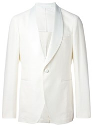 Tagliatore Single Breasted Dinner Jacket White