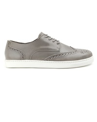 Menlook Label Grey Leather Sneakers