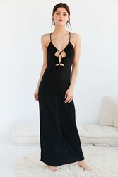 Out From Under Cutout Front Maxi Slip Black