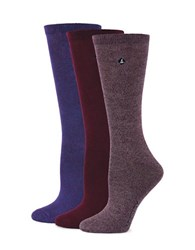 Sperry Three Pack Bamboo Marled Crew Socks Assorted