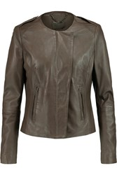 Muubaa Norma Leather Jacket Nude