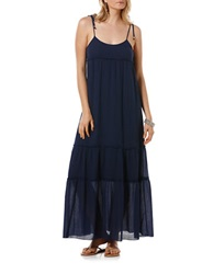 Candc California Peasant Maxi Dress Navy