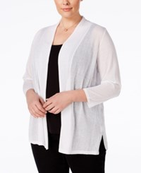 Charter Club Plus Size Sheer Cardigan Only At Macy's Bright White