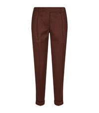 Malo Flannel Over Dyed Trousers Female Grey