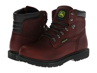John Deere 6 Waterproof Lace Up Dark Brown Men's Work Lace Up Boots