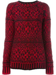 Marcelo Burlon County Of Milan Intarsia Knit Sweater