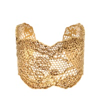 Aurelie Bidermann 18K Dipped Laser Cut Lace Cuff
