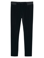 Violeta By Mango Velour Leggings Black