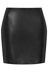 Leather Mini Skirt By Boutique Black