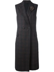 Brunello Cucinelli Long Waistcoat Brown