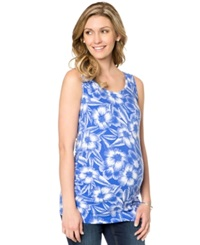 Motherhood Maternity Floral Print Ruched Tank Top