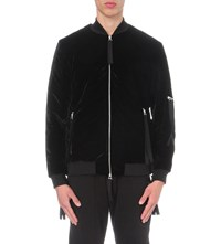 Blood Brother Velvet Bomber Jacket Black