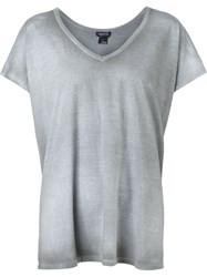 Avant Toi V Neck T Shirt Grey