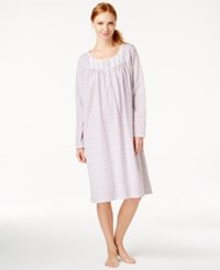 Eileen West Long Sleeve Nightgown Ditzy Print
