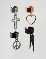 New Look Mixed Ear Cuff Multipack Multi Col