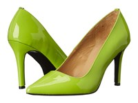 Massimo Matteo Patent Leather Pump Acid Women's Shoes Green