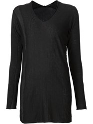 Label Under Construction Longline Knitted Sweater Black