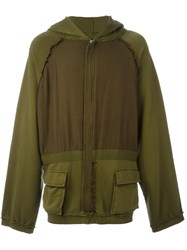 Haider Ackermann Oversized Zipped Hoodie Green