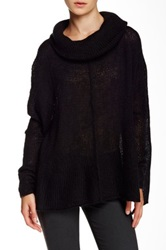 Wooden Ships Seamed Cowl Neck Sweater Black