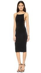 Alice Olivia Air Kia Side Strap Mid Length Dress Black