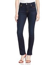 7 For All Mankind High Waist Vintage Straight Leg Jeans In Dark Midnight Compare At 198
