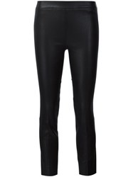 Vince Leather Trousers Black