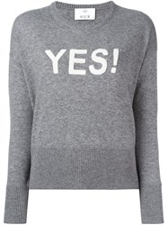 Allude Yes Printed Sweater Grey