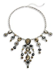 Robert Rose Stone And Pave Statement Necklace