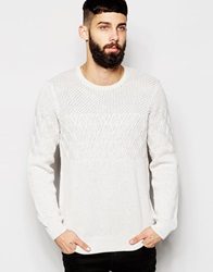 Asos Cable Knit Jumper Beige