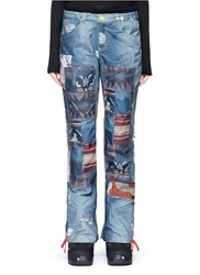 Burton X L.A.M.B. 'Buju' Patchwork Denim Print Cargo Ski Pants Multi Colour